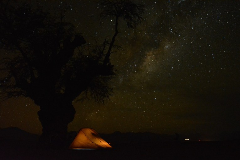 Acampando no Deserto do Atacama