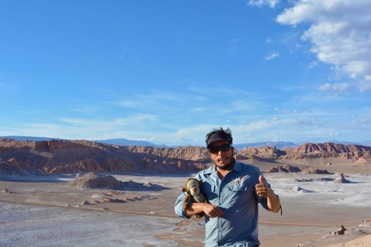 Mucuvinha e nosso guia no Atacama
