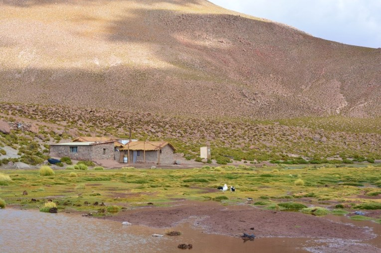 Casas no deserto do Atacama