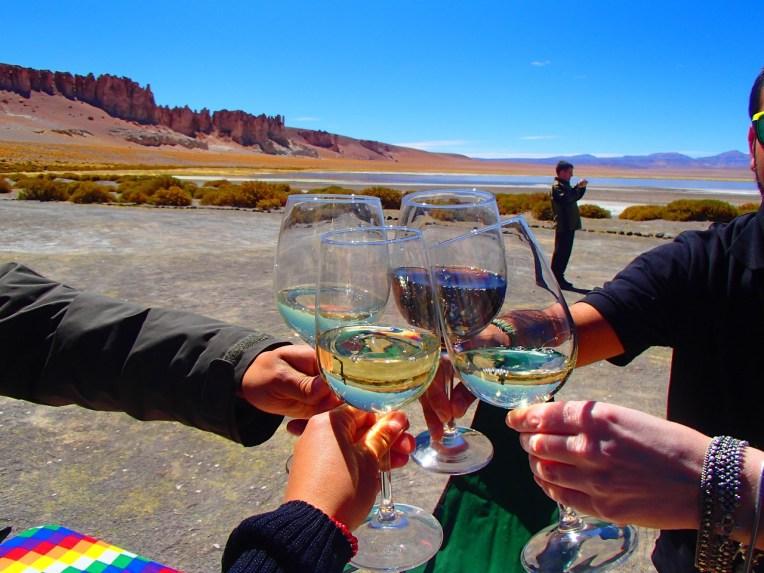 Vinho chileno no Atacama