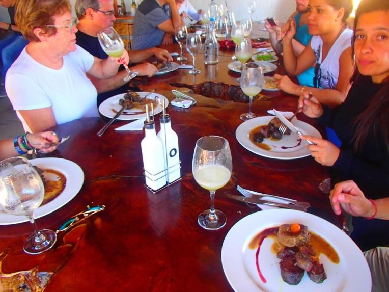 Almoçando em San Pedro do Atacama