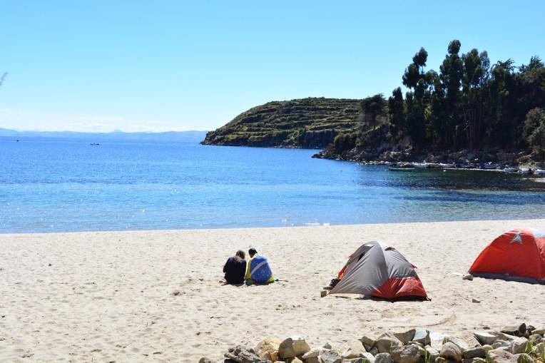 Acampando na Isla del Sol, Titicaca