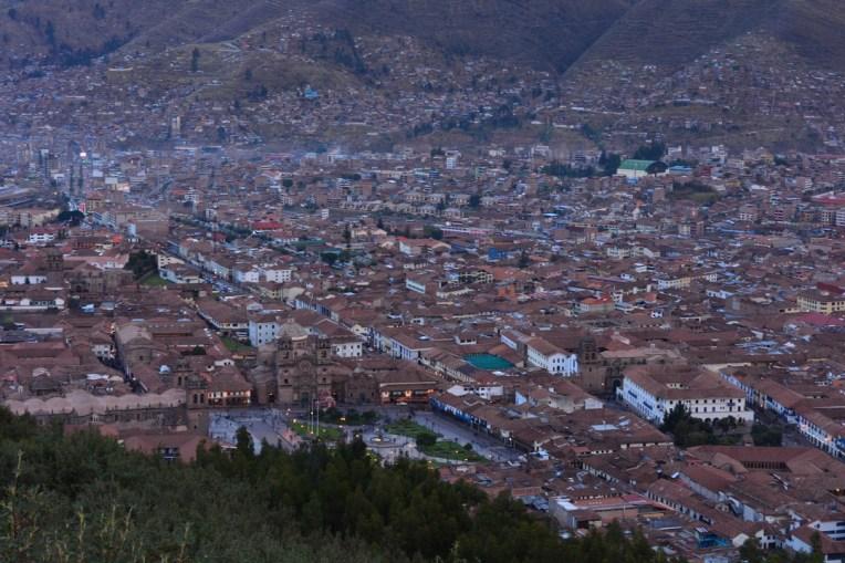 Vista panorâmica de Cusco