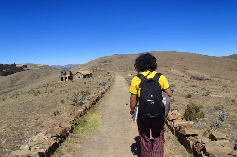 Caminho inca na Isla del Sol