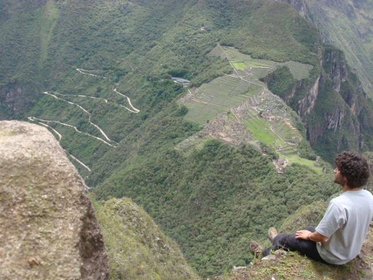 No topo da Huayna Picchu