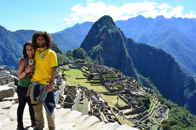 Bela vista da cidade de Machu Picchu