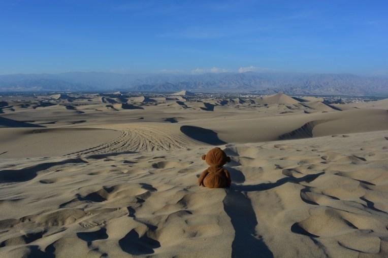 Mucuvinha nas areias do deserto de Huacachina