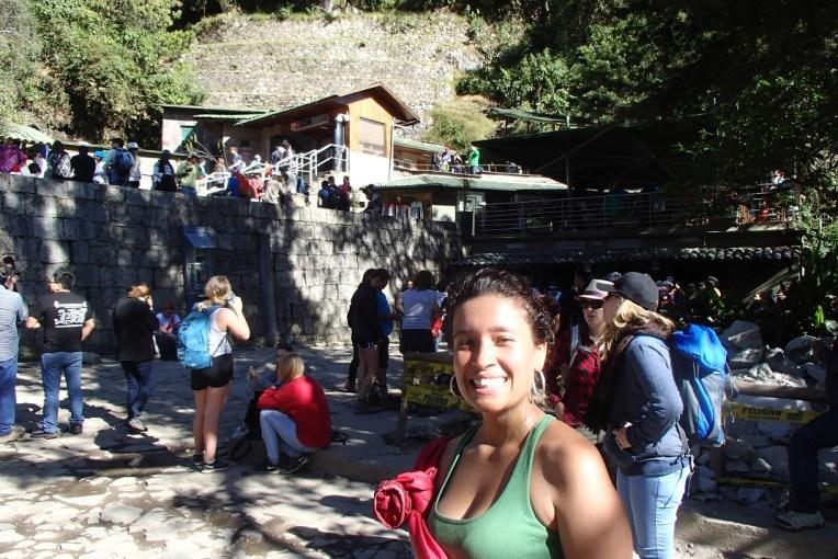A caótica entrada para Machu Picchu