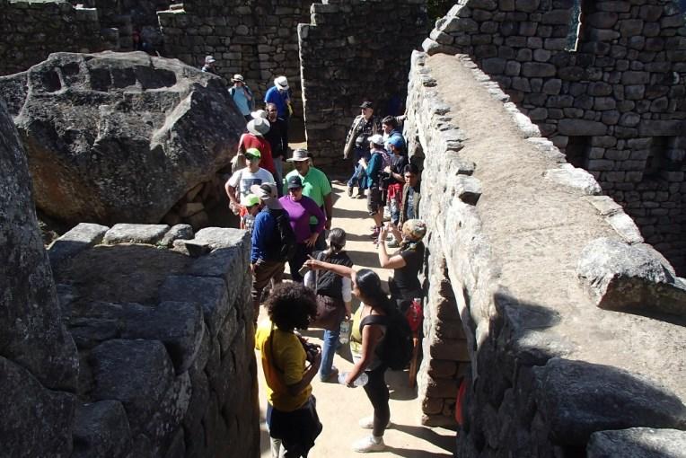 Fila para fotos em Machu Picchu
