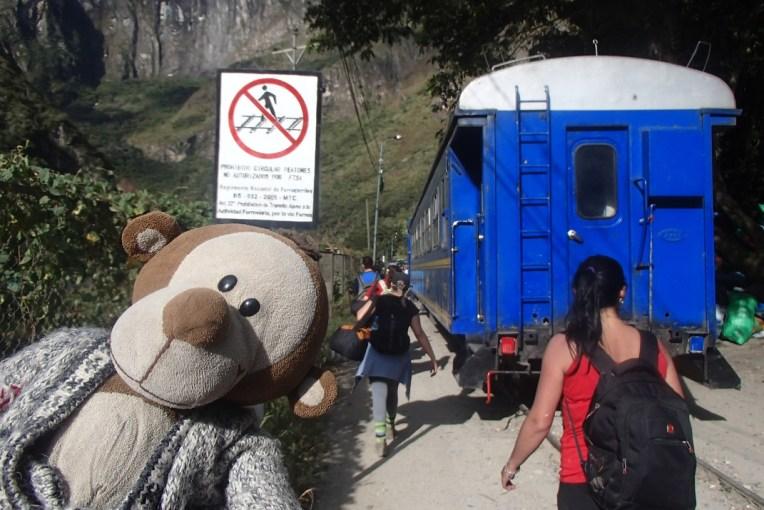 Mucuvinha no caminho pela hidrelétrica para Machu Picchu