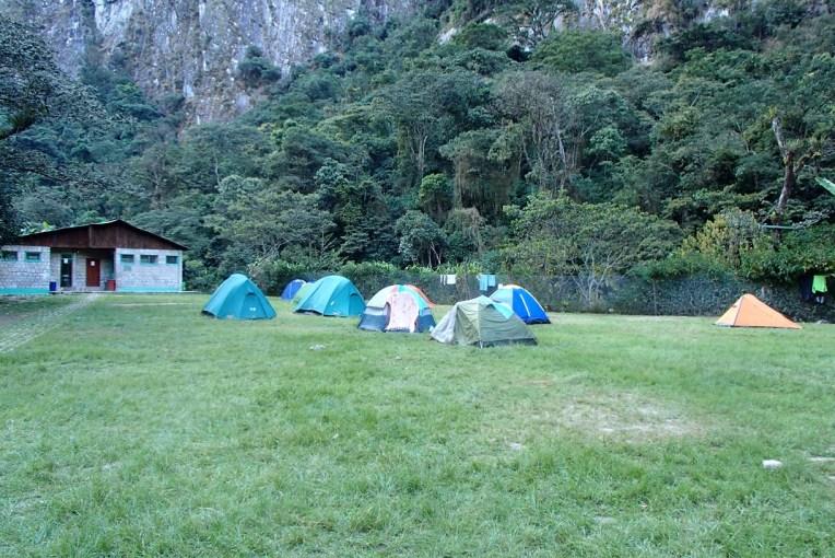 Camping em Águas Calientes
