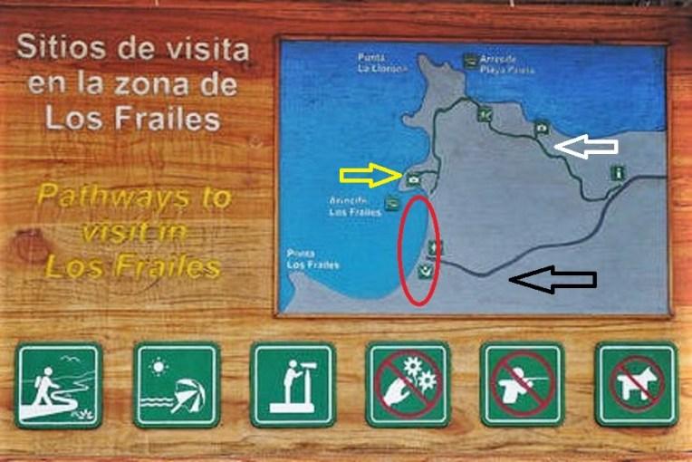 Mapa para chegar em Los Frailes