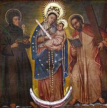 Imagem da Virgem de Chiquinquirá, padroeira da Colômbia.