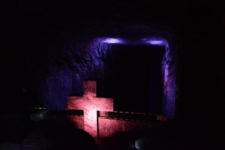 A Via Crucis, no caminho para a catedral de sal de Zipaquirá