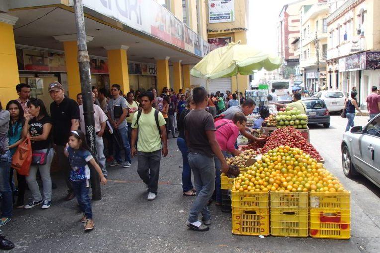 Comerciantes no centro de Mérida