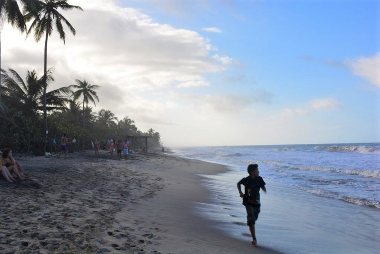 Praia de Palomino, no caribe venezuelano