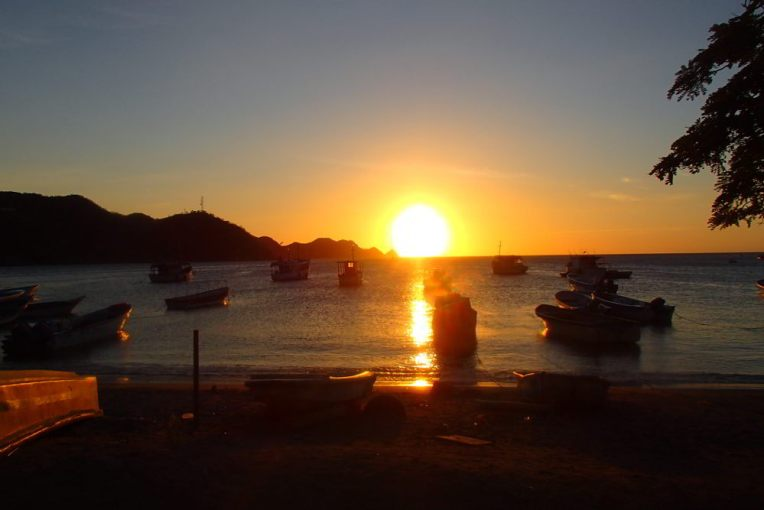 Pôr do sol no caribe