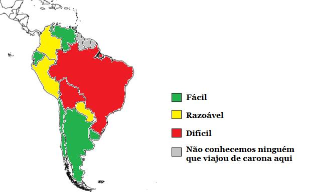 Dificuldade de viajar de carona pela América do Sul - opinião de outros viajantes