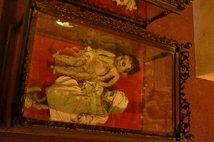 Múmias de crianças na Casa de la Moneda em Potosí