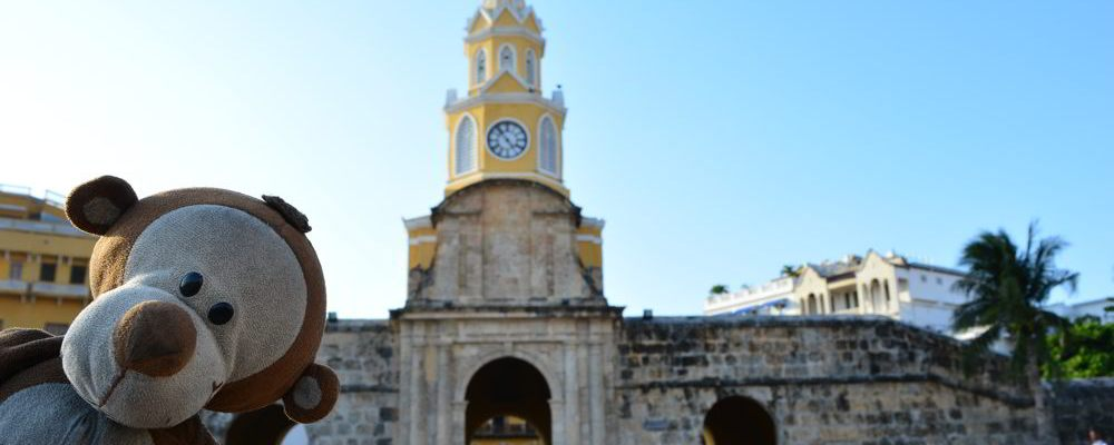 Mucuvinha na Torre do Relógio em Cartagena
