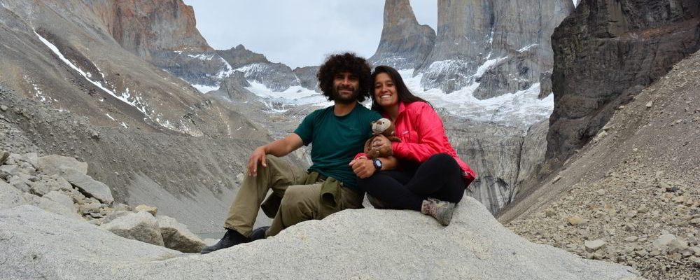 Nós nas famosas Torres del Paine
