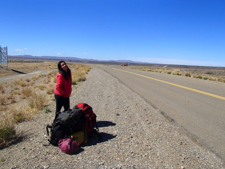 Esperando uma carona na Ruta 40, Argentina