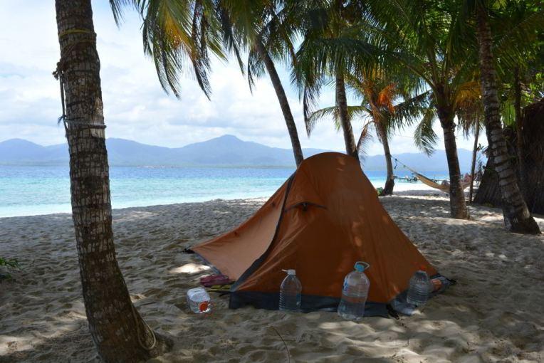 Acampando em Narasgandub, San Blas