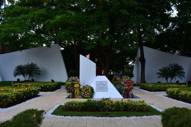 Homenagem aos heróis nacionais na Plaza de la Revolución, em Manágua