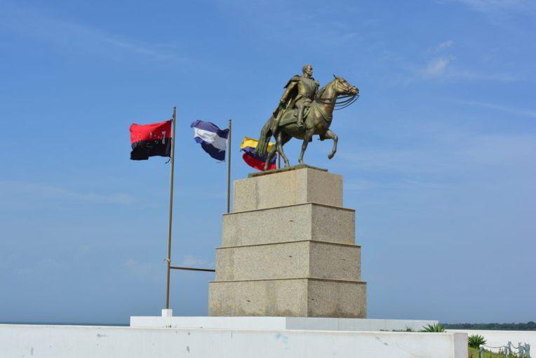 Estátua de Simón Bolivar em Manágua