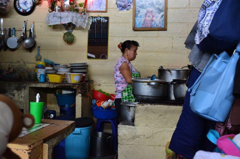 Restaurante típico do Mercado de Antígua