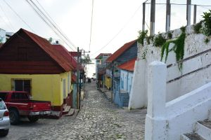 Ruas da ilha de Flores, Guatemala