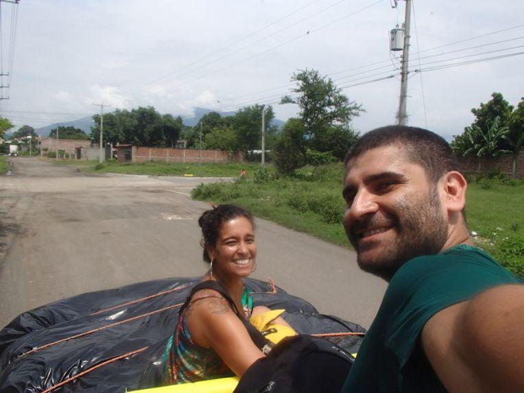Nossa carona em El Salvador