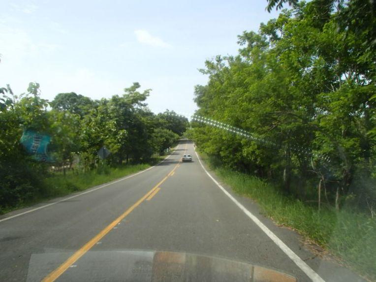 Estrada para Palenque, no México