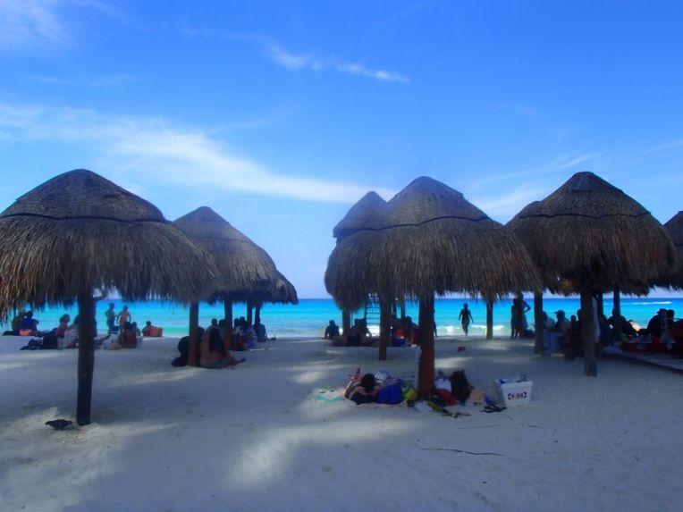 Entrada da praia de Chak Mool, Cancún