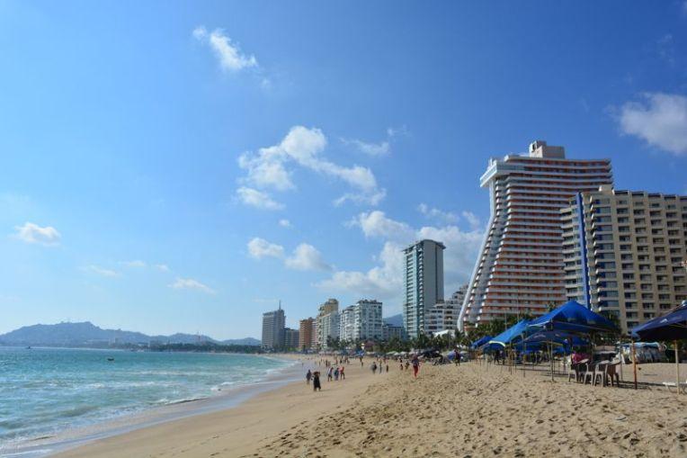 Praia de Acapulco hoje