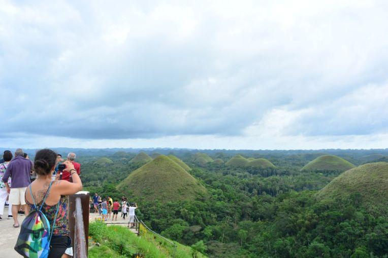 As colinas de chocolate em Bohol, Filipinas
