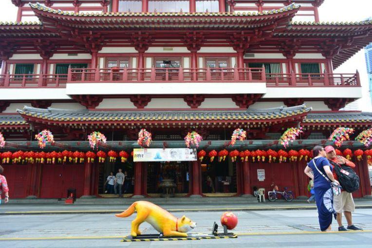 Entrada do Templo do Dente do Buda