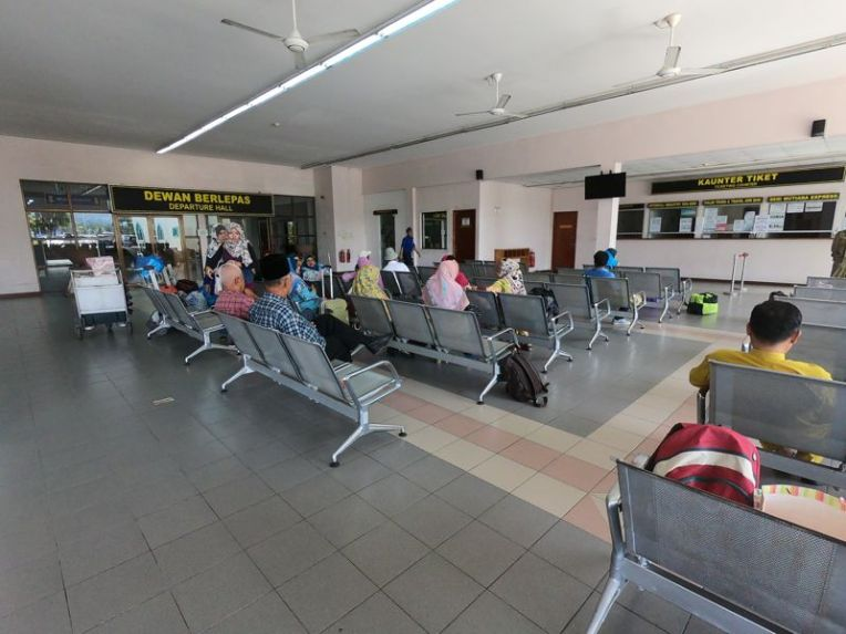 O terminal de ferry de Brunei