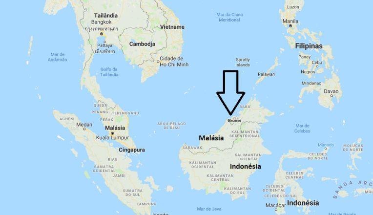 Mapa de Brunei
