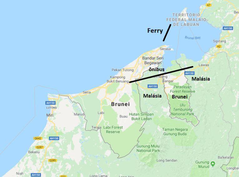 Saída de Brunei