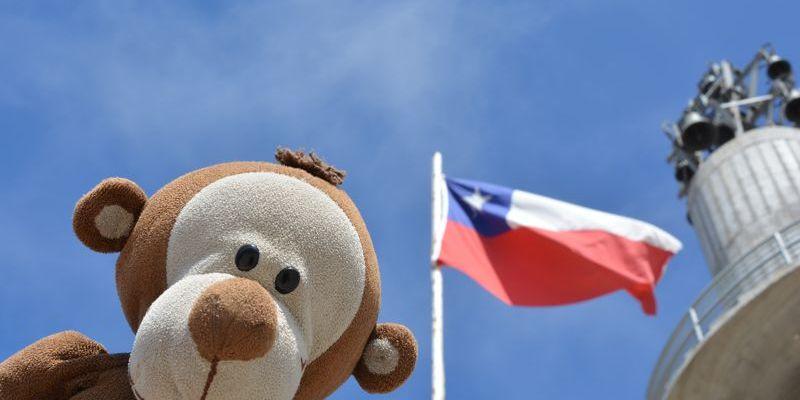 Mucuvinha com a bandeira do Chile