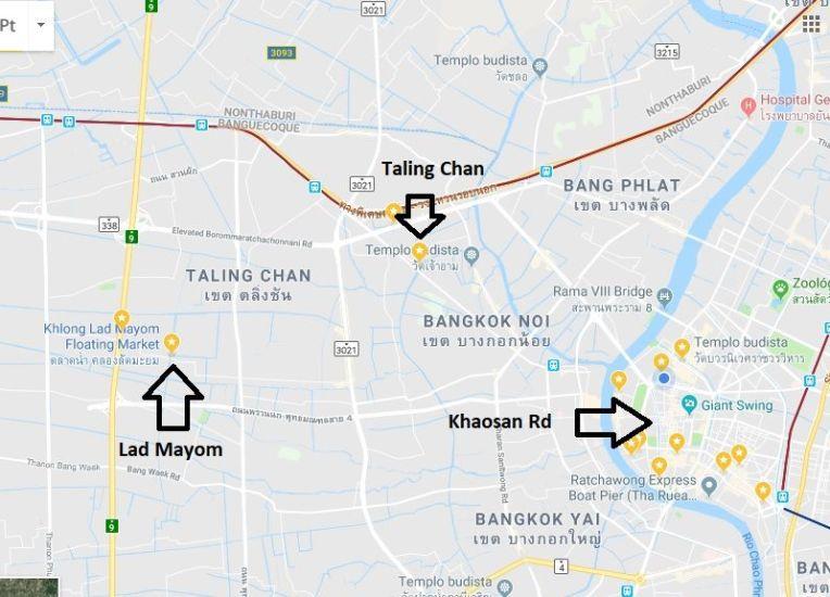 Mercados de Taling Chan e Lad Mayom - Bangkok