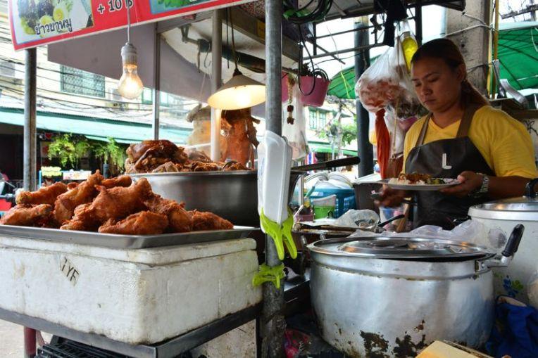 Comida de rua em Bangkok, Tailândia