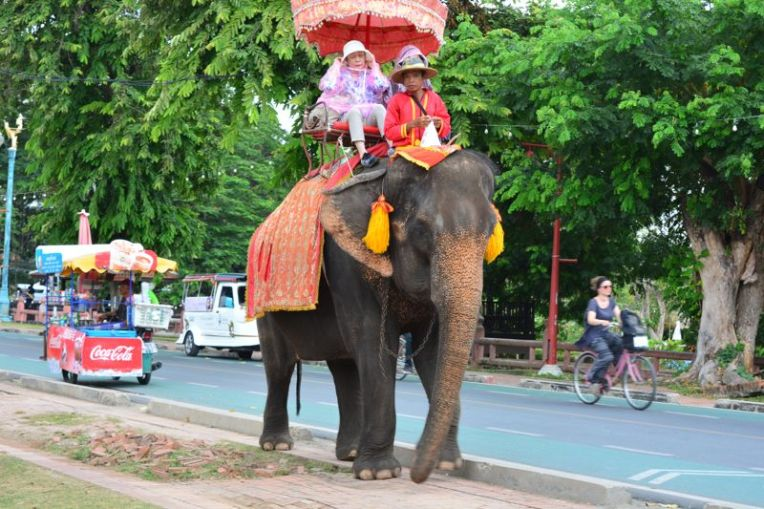 Elefantes em Ayutthaya