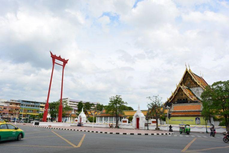 Giant swing - o balanço gigante de Bangkok, Tailândia