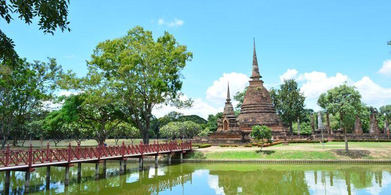 Wat Sa Si, em Sukhothai