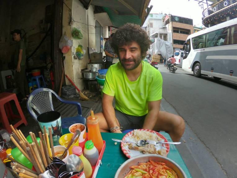 Comida de rua em Ho Chi Minh