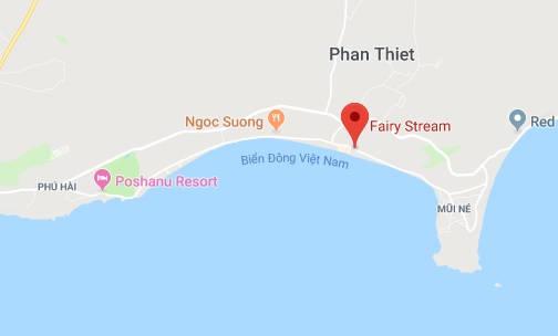 Localização do Fairy Stream