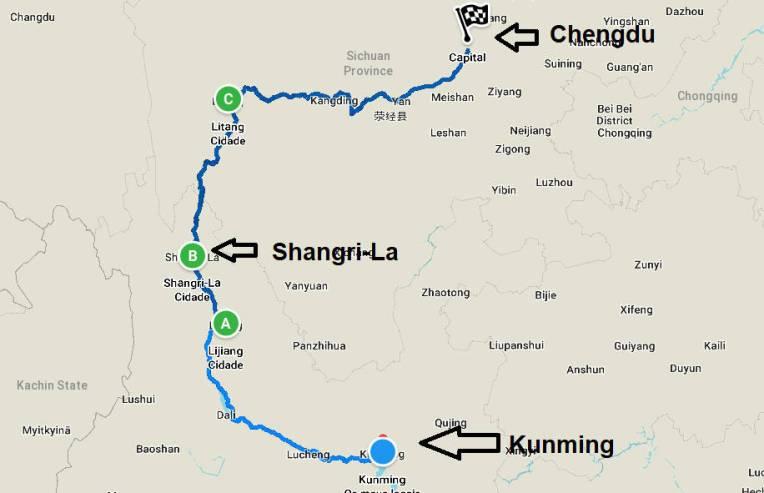 Roteiro pelo Tibete chinês