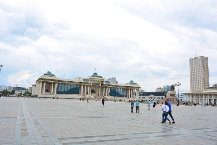 Praça Sukhbaatar, Ulan Bator, Mongólia